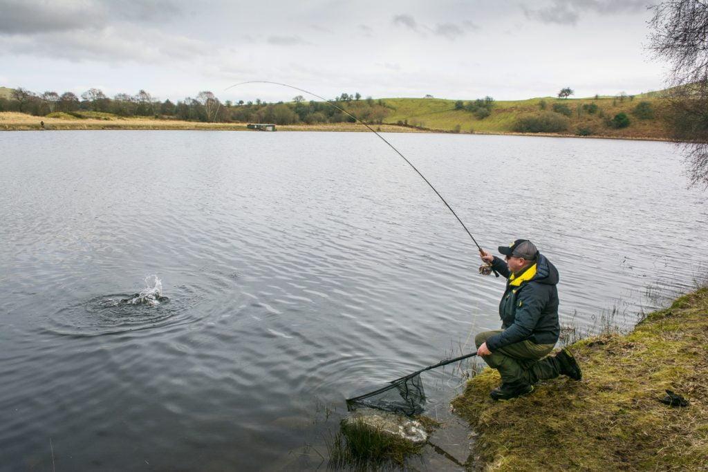 A winter day fishing on llyn gwyn