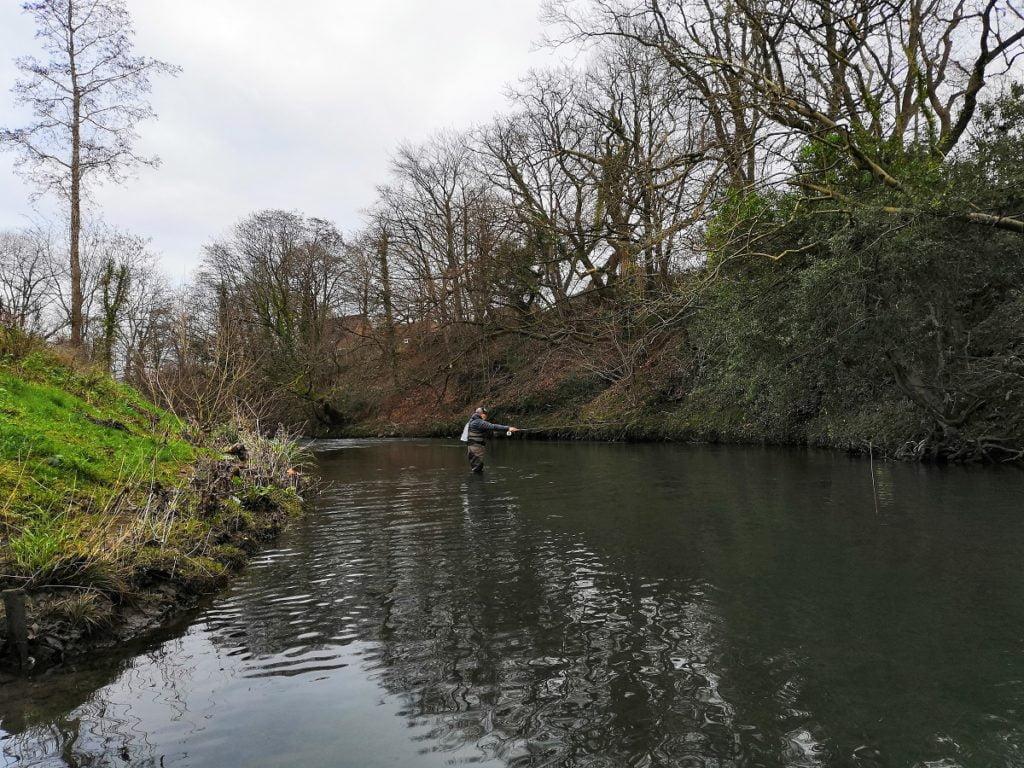 Fishing the river Rhymney