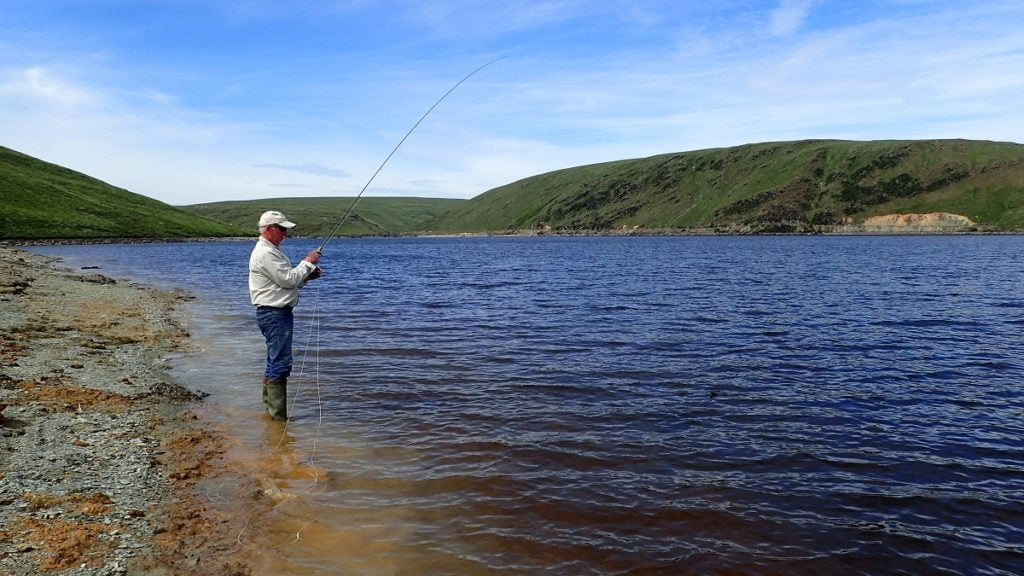 Fly fishing in the Welsh hills