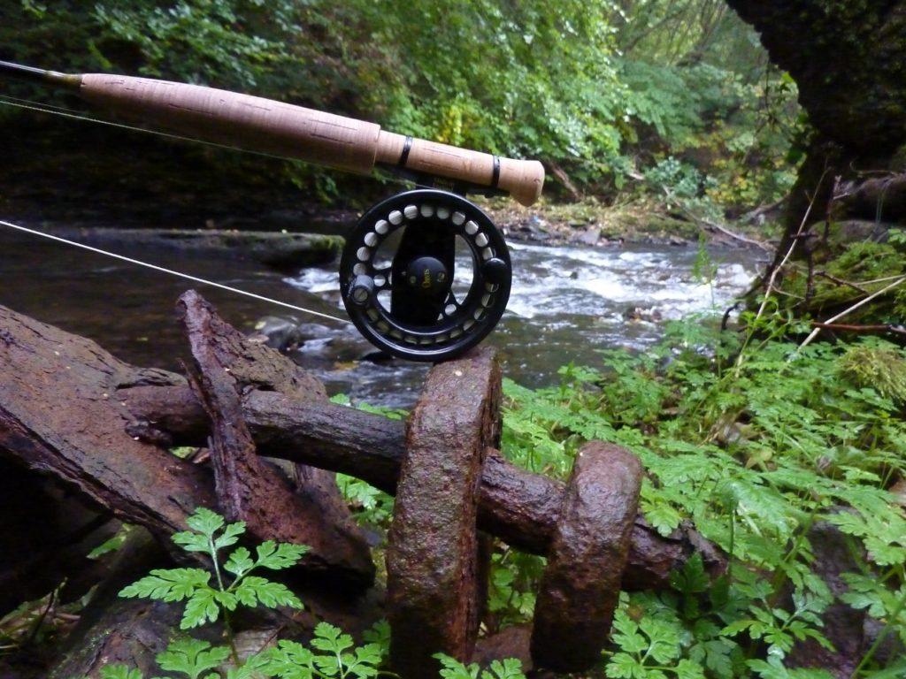 Fishing rod at Aberbargoed river Rhymeny