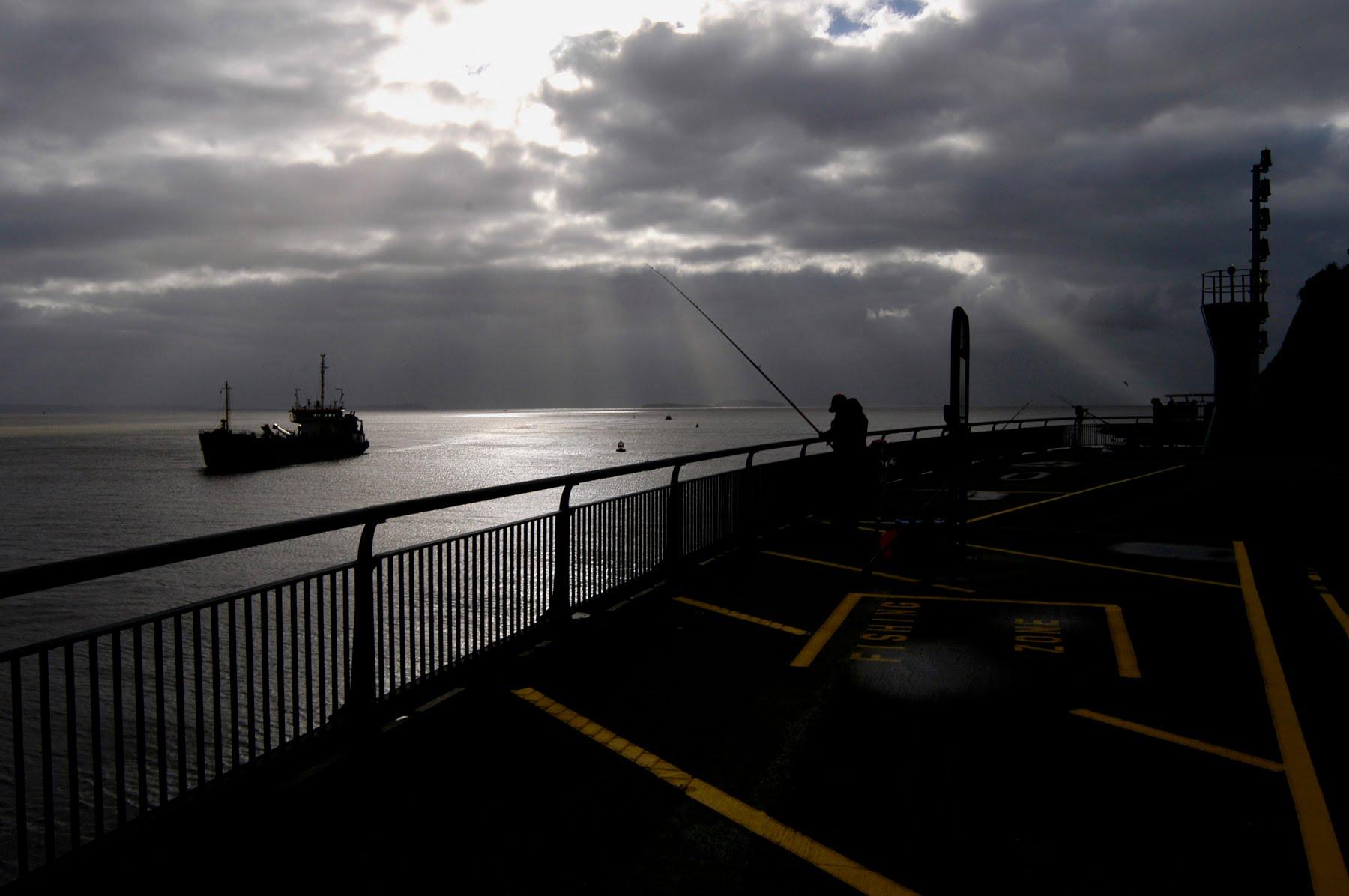 A breakwater - Cardiff bay barrage