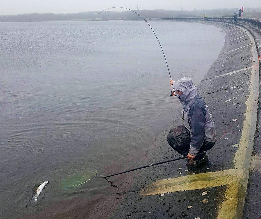 Into a fish on Eglwys reservoir