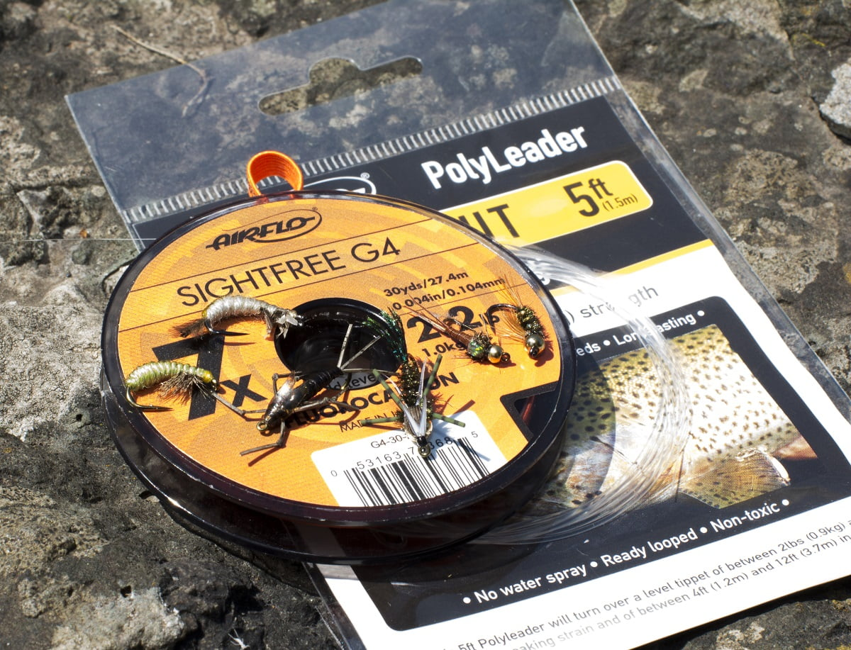 Flies, tippet and leader