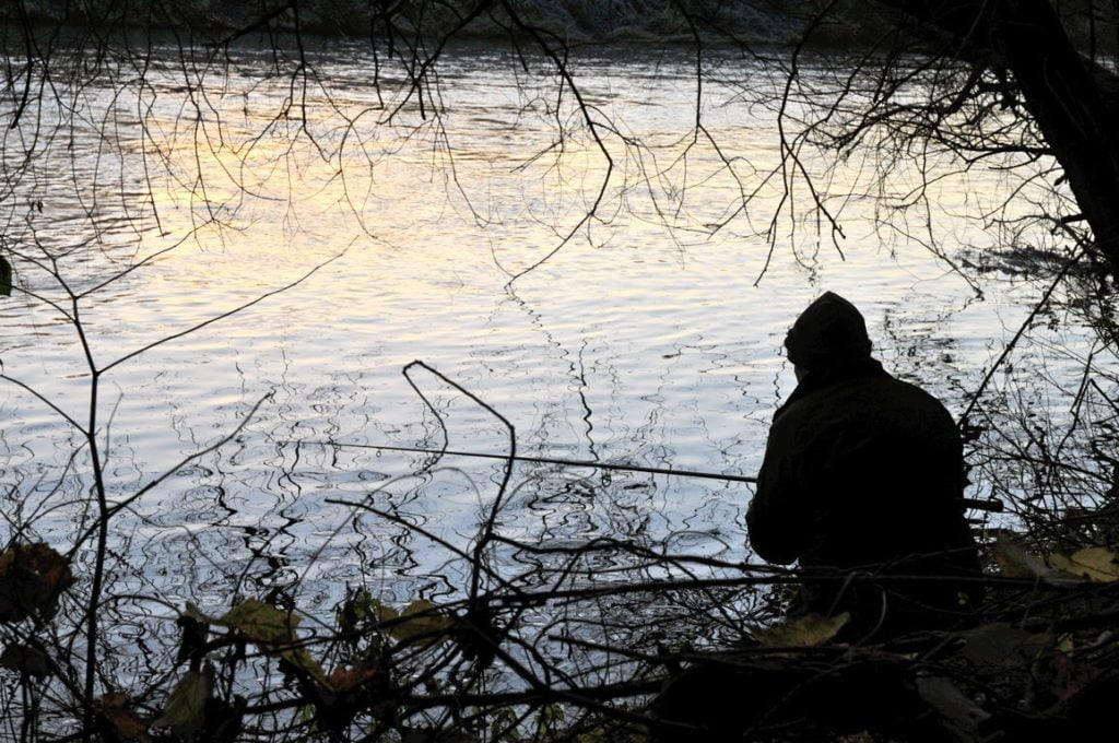 Winter pike fishing on the river Wye