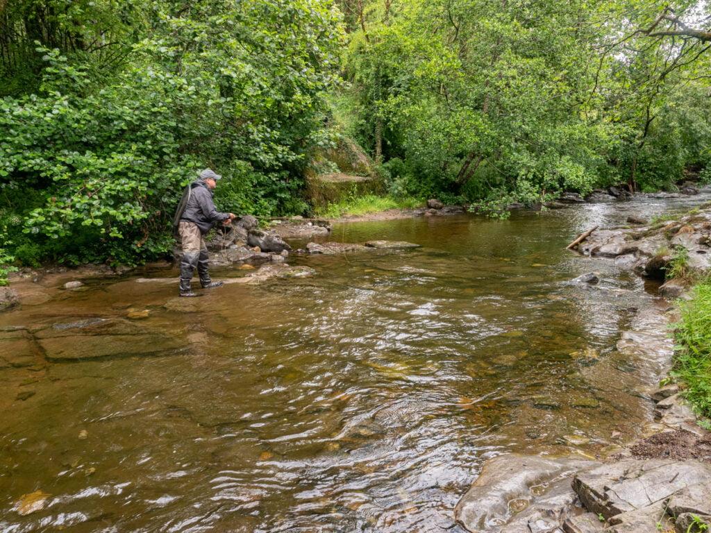 River taff fly fishing Wales
