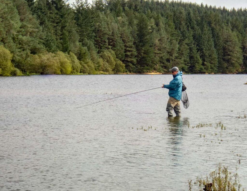 bank fishing on llyn clywedog