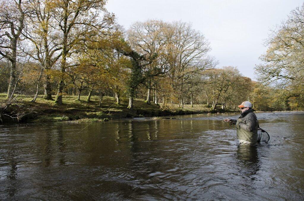 grayling fishing on the river irfon