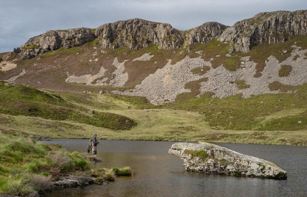 fishing in wales llyn gamallt lakes