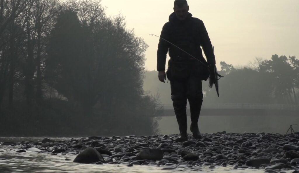 Fishing on the river Taff