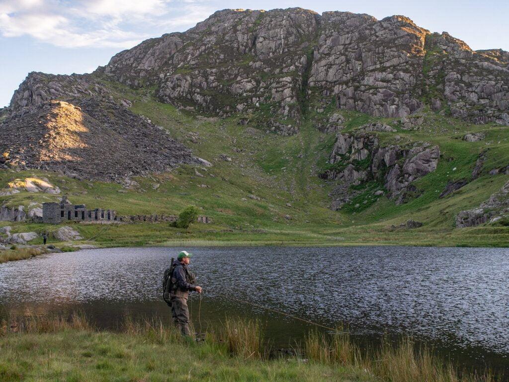 llyn fishing north wales